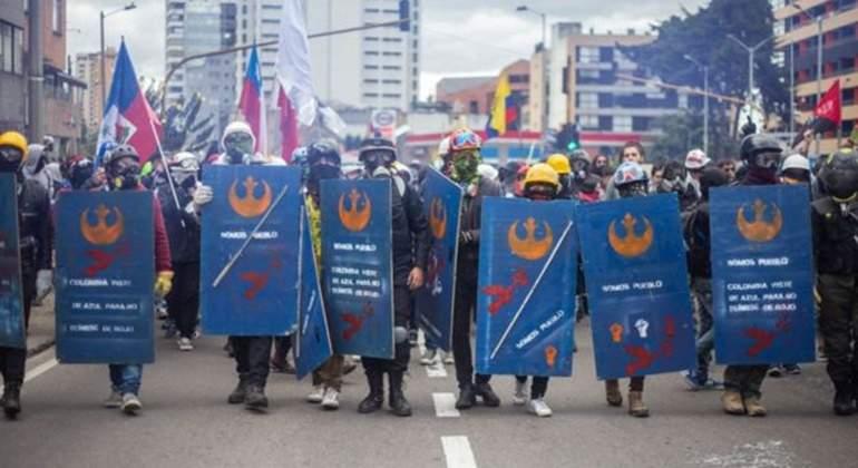 Con marchas y cacerolazo regresan protestas sociales a Colombia