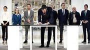 Sánchez y los agentes sociales firman el acuerdo de subida del salario mínimo a 950 euros para 2020