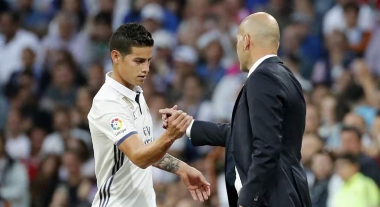 James Rodríguez lanza un dardo a Zidane