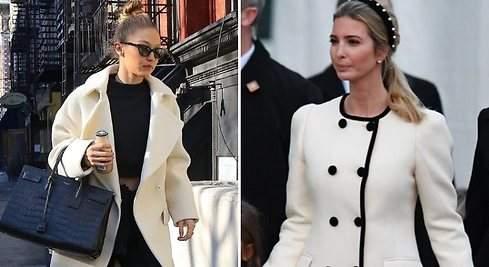 Ivanka y Hadid apuestan por el abrigo blanco