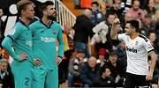 El Barcelona cae en Mestalla y Setién suspende su primer gran desafío