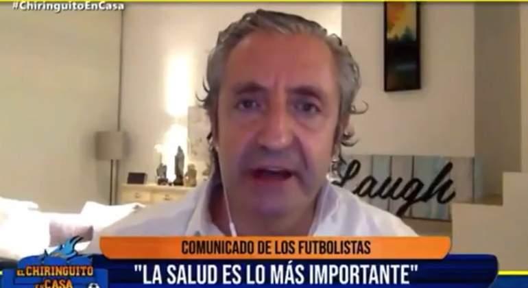 """Cabreo de Pedrerol con los futbolistas: """"Test cada 72 horas y encima se quejan, privilegiados los justos"""""""