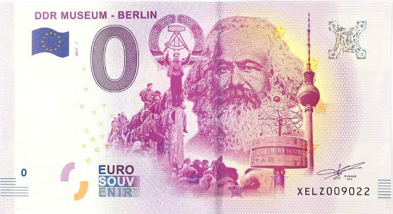 Negocio con  Karl  Marx. Tréveris Marx-karl-billete-cero-euros