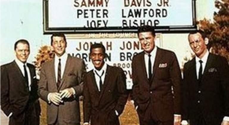 Sinatra, Dean Martin y el resto del 'Rat Pack' en los años dorados.