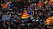 Miles de personas reivindican en Madrid el procés independentista y critican el juicio en el Supremo