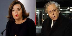 Enganchón de Aguilar con Soraya Sáenz de Santamaría