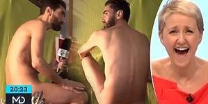 Un reportero de Telemadrid se desnuda en su reportaje
