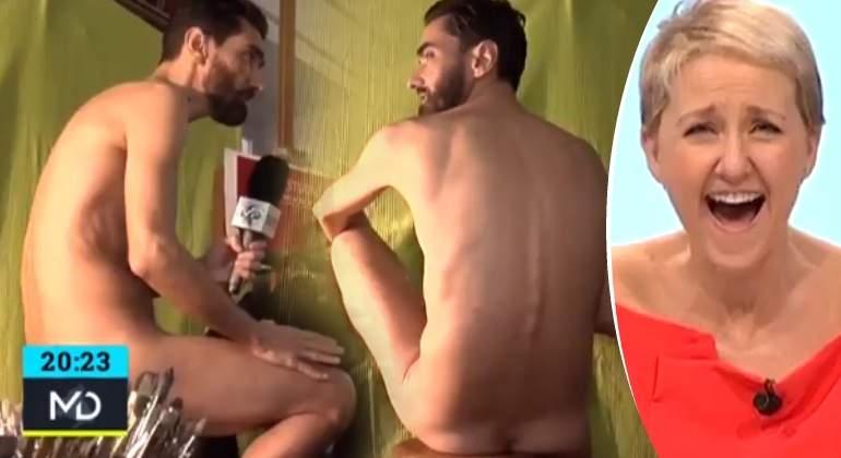 Un Reportero De Telemadrid Se Desnuda Para Ser Retratado En Una