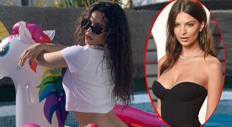 b241d0cdcaea Bikini brasileño de Rosalía revoluciona la red y conquista a Emily ...