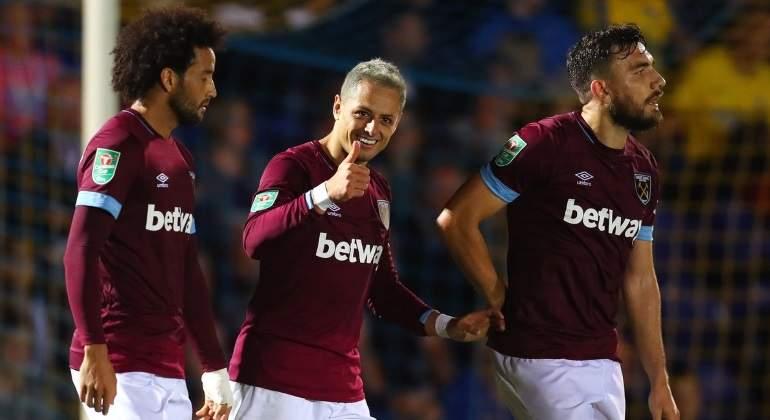 Chicharito marca su primer gol de la temporada con West Ham
