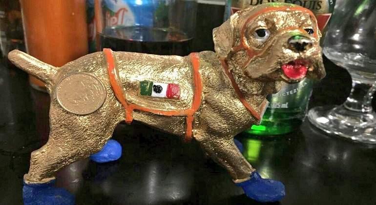 Venden a perrita 'Frida' como amuleto contra sismos