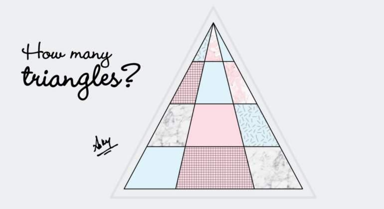 ¿Cuántos triángulos hay en esta imagen? Y no son 24
