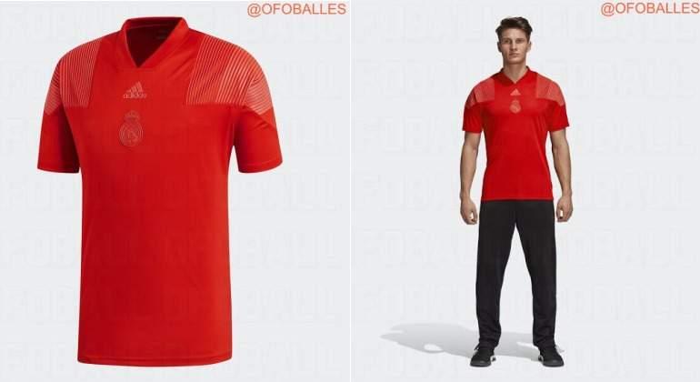 Revolución en la nueva camiseta del Real Madrid  la 2ª equipación será  roja 2405a358665