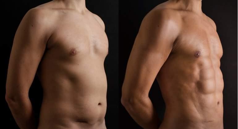 Alta definición en torso y abdomen.