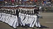 Desfile militar en Santiago por la celebracin de las Fiestas Patrias de Chile