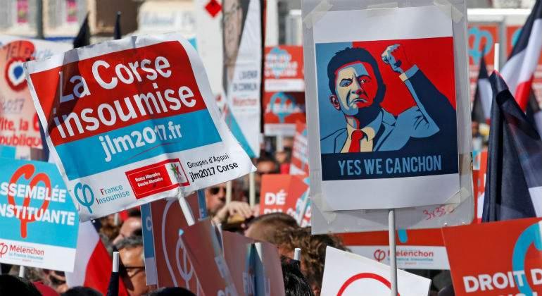 Resultado de imagen de Mélenchon en elecciones francia
