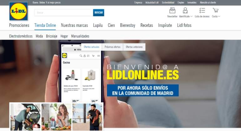 lidl lanza su tienda piloto 39 online 39 en madrid para vender sus marcas propias de moda hogar y. Black Bedroom Furniture Sets. Home Design Ideas