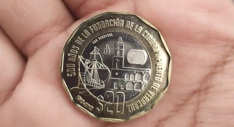 Moneda de la fundación de Veracruz