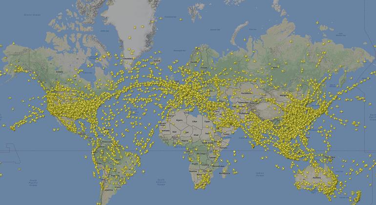 Sabes Cuántos Aviones Están Volando En Este Momento Aquí Podrás Verlos Ecodiario Es