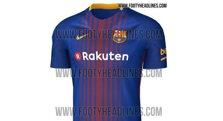 803b9994e Filtran la nueva camiseta del Barcelona para la temporada 17/18: llevará la publicidad  de Rakuten - EcoDiario.es