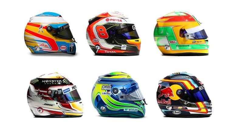 ¿Puedes identificar a estos pilotos de F1 solo por su casco?