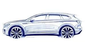 Volkswagen presentará el nuevo Touareg en Pekín: primera imagen