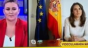 La ministra Irene Montero entra en directo en Sálvame para hablar de Rocío Carrasco: Ha sido muy valiente