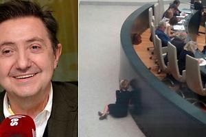 Aguirre hablaba con Losantos cuando fue cazada sentada en el suelo del pleno