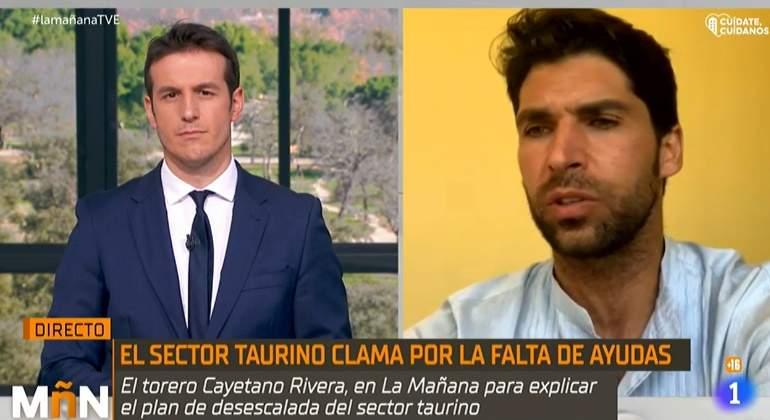 """""""Es absurdo y ridículo"""": una inesperada pregunta de TVE descoloca a Cayetano Rivera"""