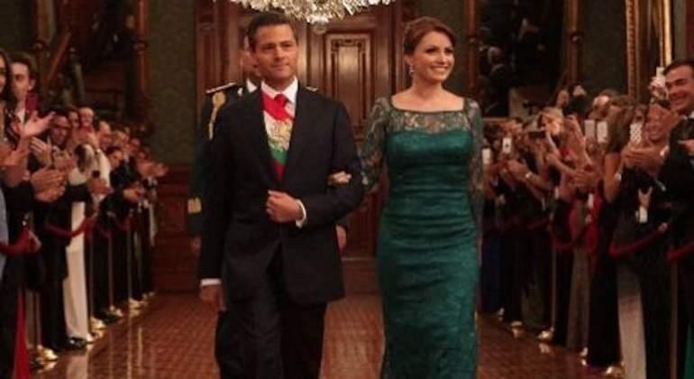 7e816d13e1 Los vestidos de Angélica Rivera para el Grito de Independencia ...