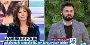 El zasca de Ana Rosa a Gabriel Rufián con Franco de por medio