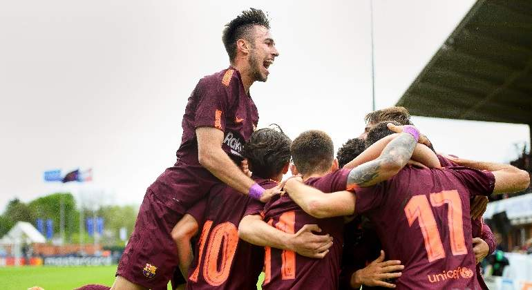 El Barcelona gana la Champions juvenil