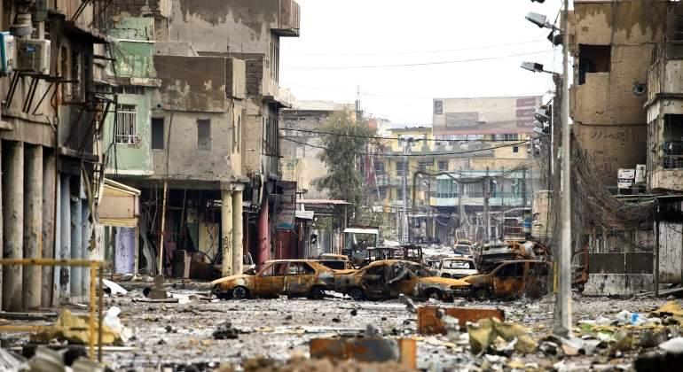 Las casas de civiles en Mosul están llenas de explosivos y bombas trampa