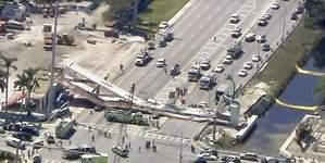 Varios muertos tras caer un puente peatonal en Miami