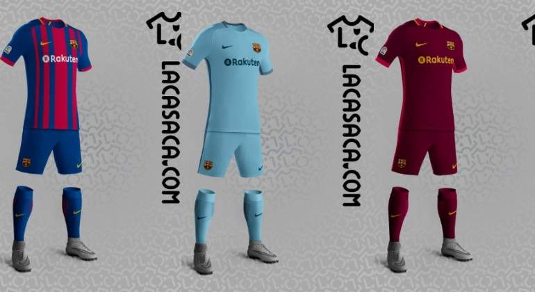 Filtran cómo serán las nuevas camisetas del Barcelona para la temporada  2017-18 fc4df504dcd1c