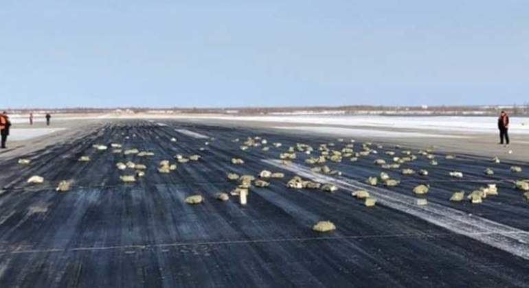 Un avión ruso pierde tres toneladas de oro