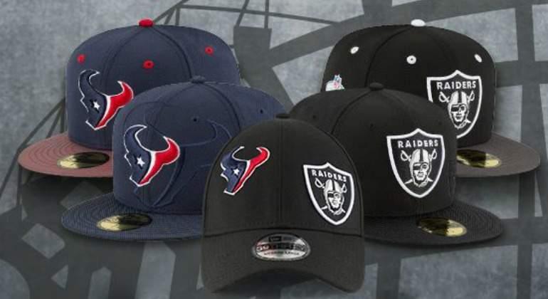 21a5846ba27cd Presentan gorras oficiales del juego entre Raiders y Texans en ...
