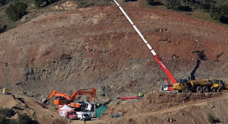 Una de las máquinas que participaron en los trabajos de rescate de Julen.