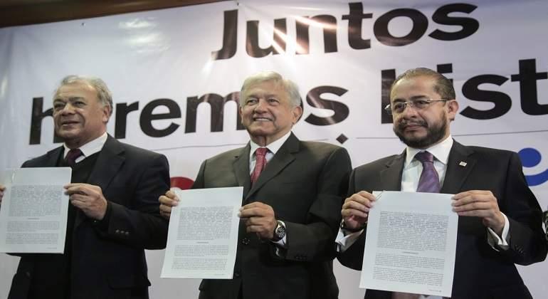 Entrega Juntos Haremos Historia registro de coalición a INE