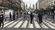 operativo policaco CDMX Zcalo Grito de Independencia