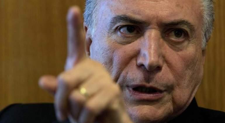 Temer ataca a la justicia ante posible nueva denuncia en Brasil