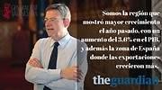 Imagen difundida por la Generalitat sobre la entrevista en The Guardian GVA