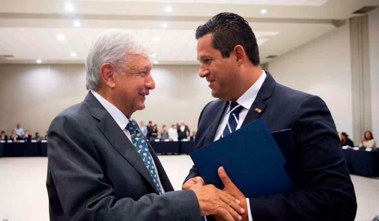 AMLO y el gobernador Diego Sinhue