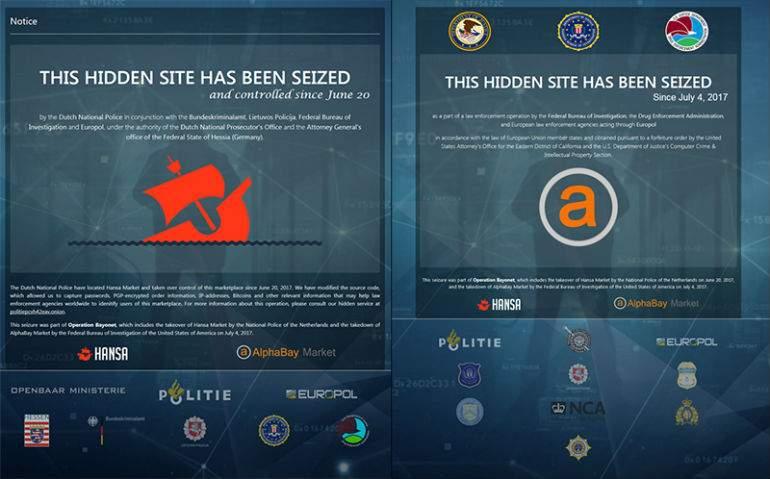 Europol, FBI y DEA desmantelan dos de las mayores webs criminales