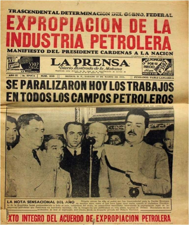 Celebran el 80 aniversario de la Expropiación Petrolera