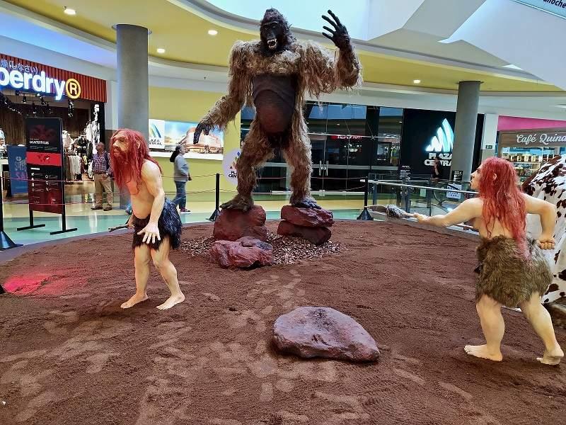En Centro Comercial Plaza Central, se tiene un museo dedicado a la evolución humana