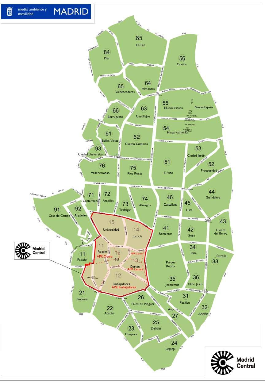 Plano Madrid Central
