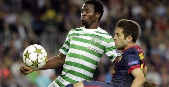 9f69fd3ebcb24 El Barça gana en en el último minuto al Celtic  solo Jordi Alba puede con  Foster