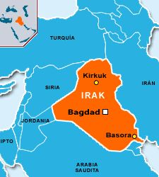 mapa de irak fotoarchivo