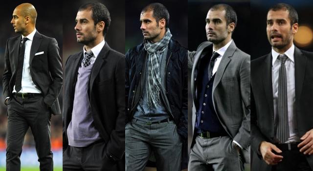 Guardiola y su elegancia con traje
